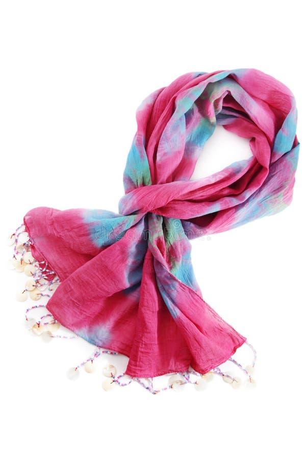 Pink scarf royalty free stock photos