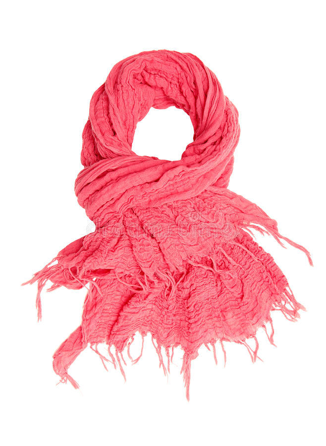Download Pink scarf. stock photo. Image of object, rumpled, crimped - 27535894