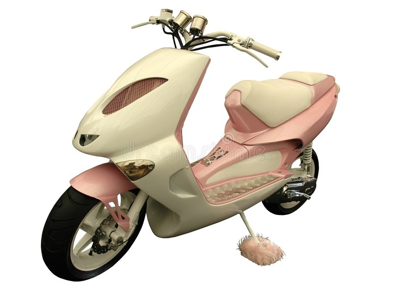 Pink scooter royalty free stock photos