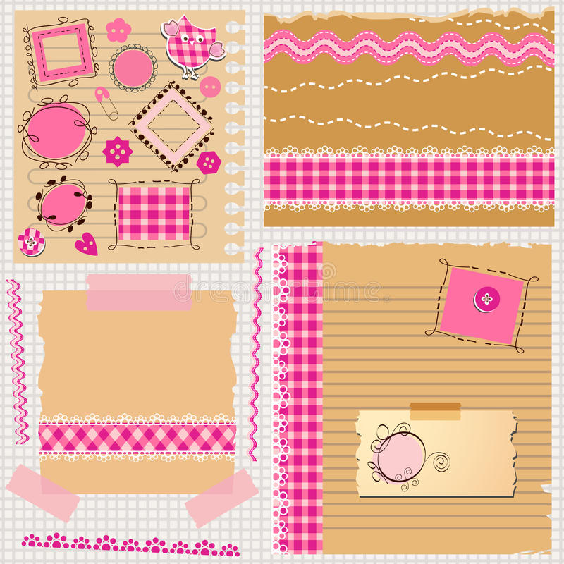 Download Scrapbook kit stock vector. Image of paper, doodle, graphic - 29937615