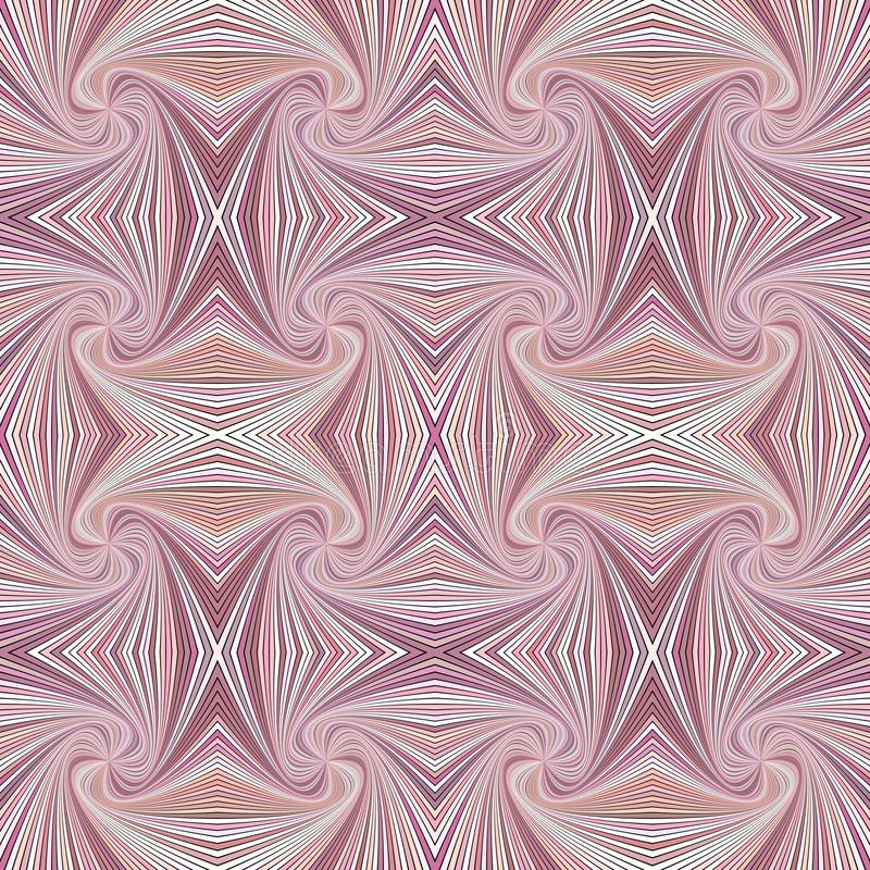 Pink seamless abstract psychedelic spiral ray burst stripe pattern background. Vector design vector illustration