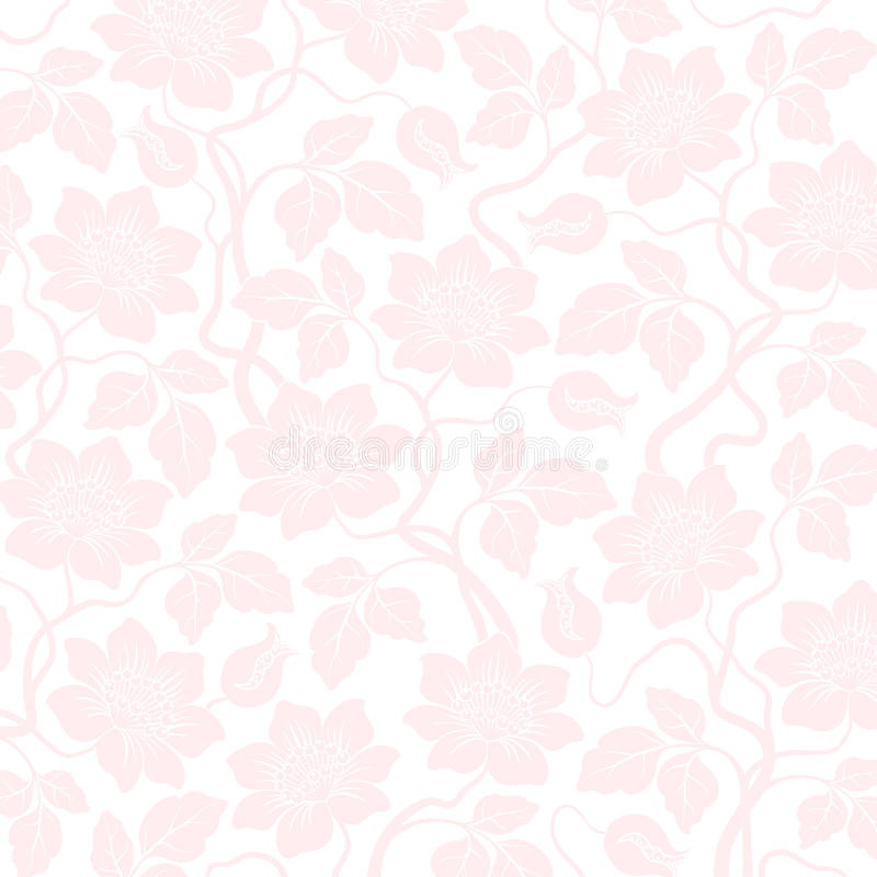 Download Pink Seamless Flower Damask Background Stock Illustration - Image: 13447886