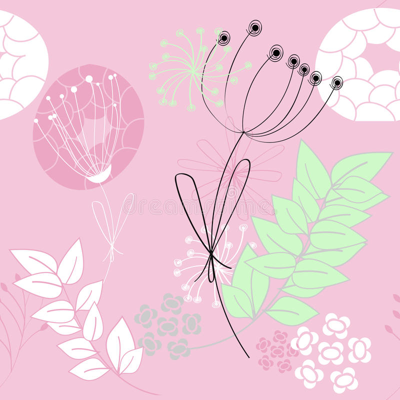 Download Pink seamless pattern stock vector. Image of decoration - 13318833
