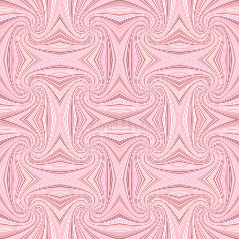 Pink seamless psychedelic geometrcial spiral stripe pattern background. Vector curved ray burst graphic stock illustration
