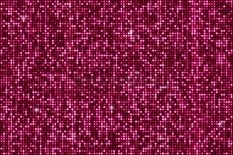 Pink seamless shimmer sequins background stock illustration