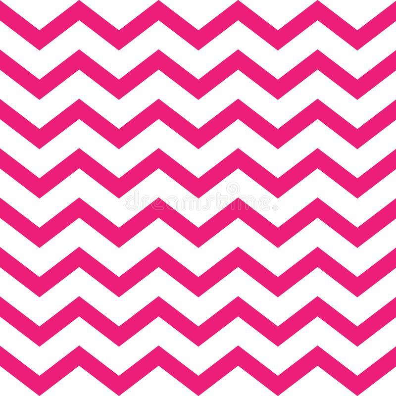 Pink Seamless Zigzag Pattern On White Background Stock Vector -  Illustration Of Chevron, Bright: 142467354