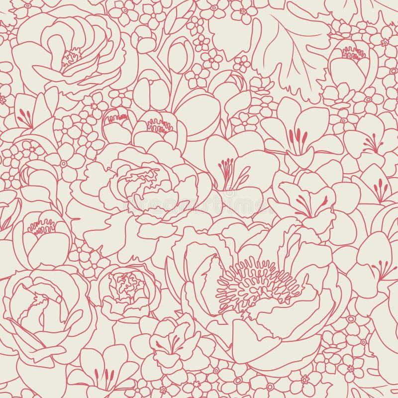 Download Pink seanless pattern stock vector. Illustration of flora - 18097333