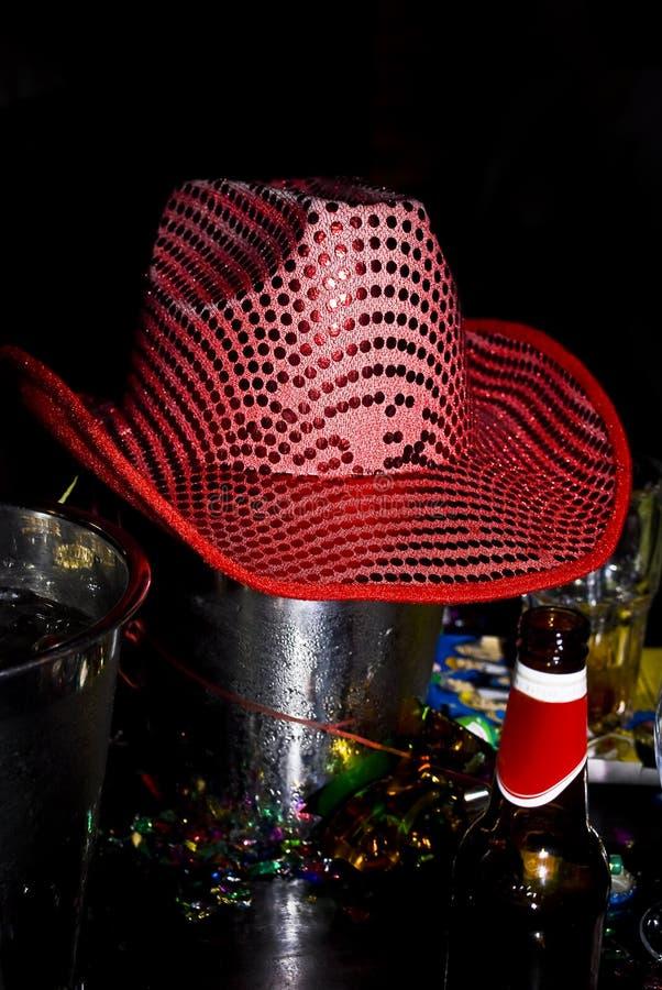 Download Pink Sequin Cowboy Hat, Ice Bucket Lid Stock Image - Image: 12256351
