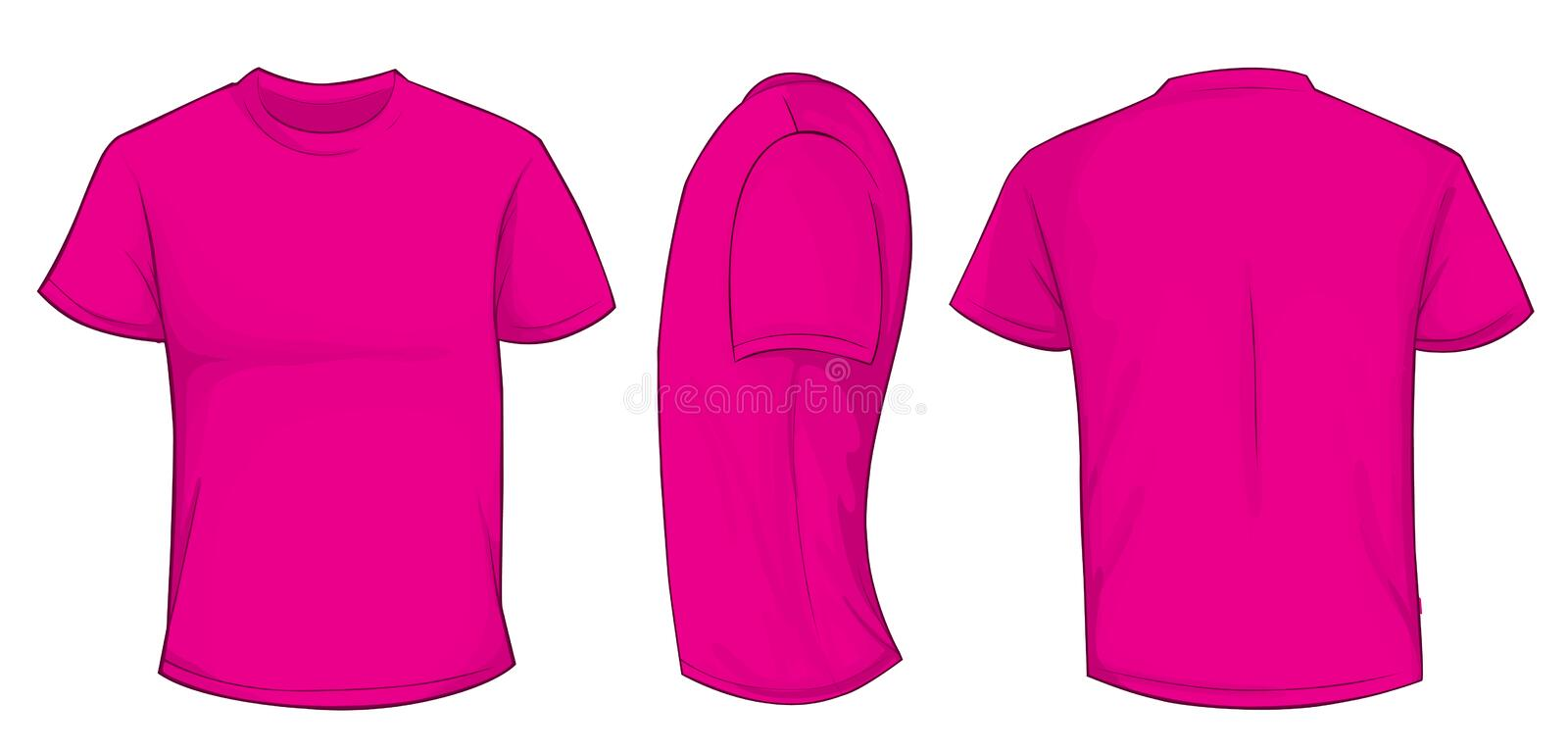 Pink shirt template stock vector illustration of casual for Pink t shirt template