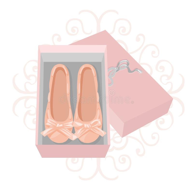 Pink shoes stock illustration