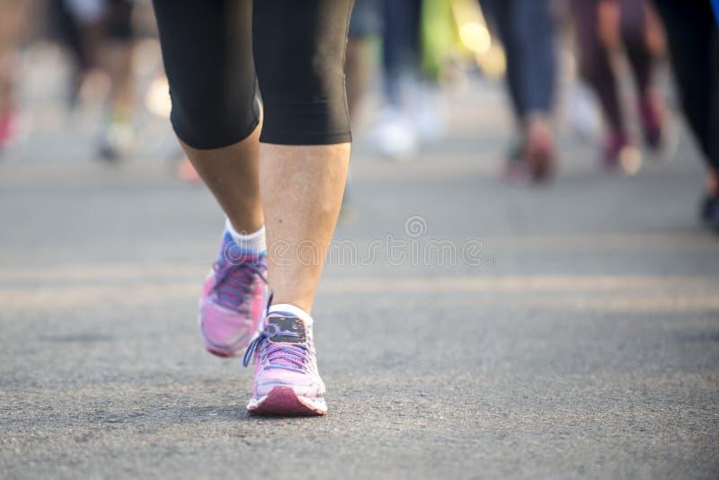 Street leg runner stock image