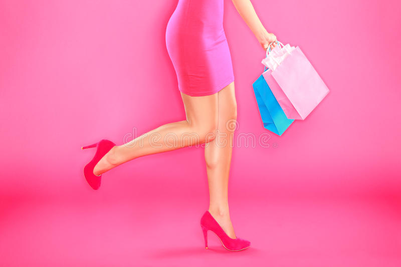 Download Pink Shopping Royalty Free Stock Images - Image: 24468189