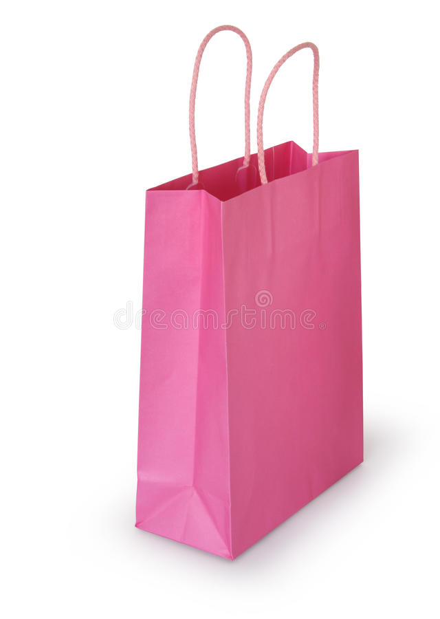 Download Pink shopping bag stock image. Image of shop, purchase - 12316787