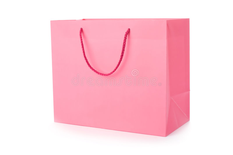 Pink Shopping Bag Royalty Free Stock Photography