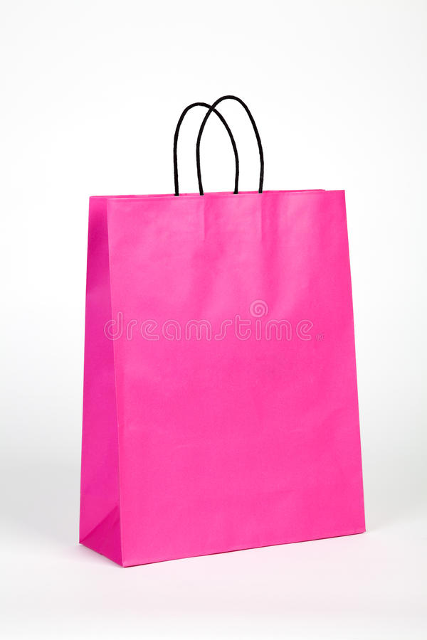 Download Pink shopping bag. stock photo. Image of white, handle - 33013886