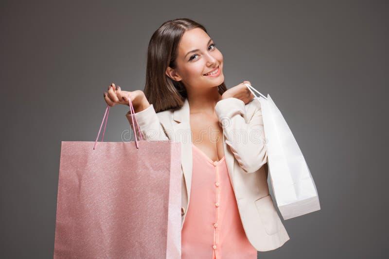 Download Pink shopping. stock photo. Image of customer, fashion - 33653436