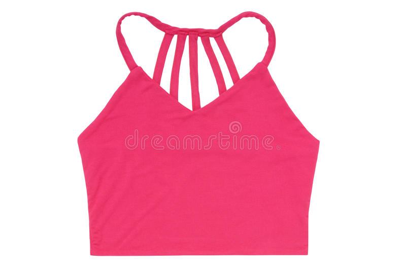 Pink short female top stock photography