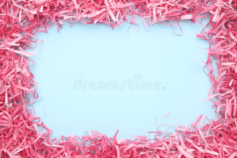 Pink shredded paper royalty free stock photo