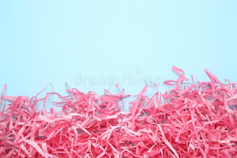 Pink shredded paper royalty free stock photography