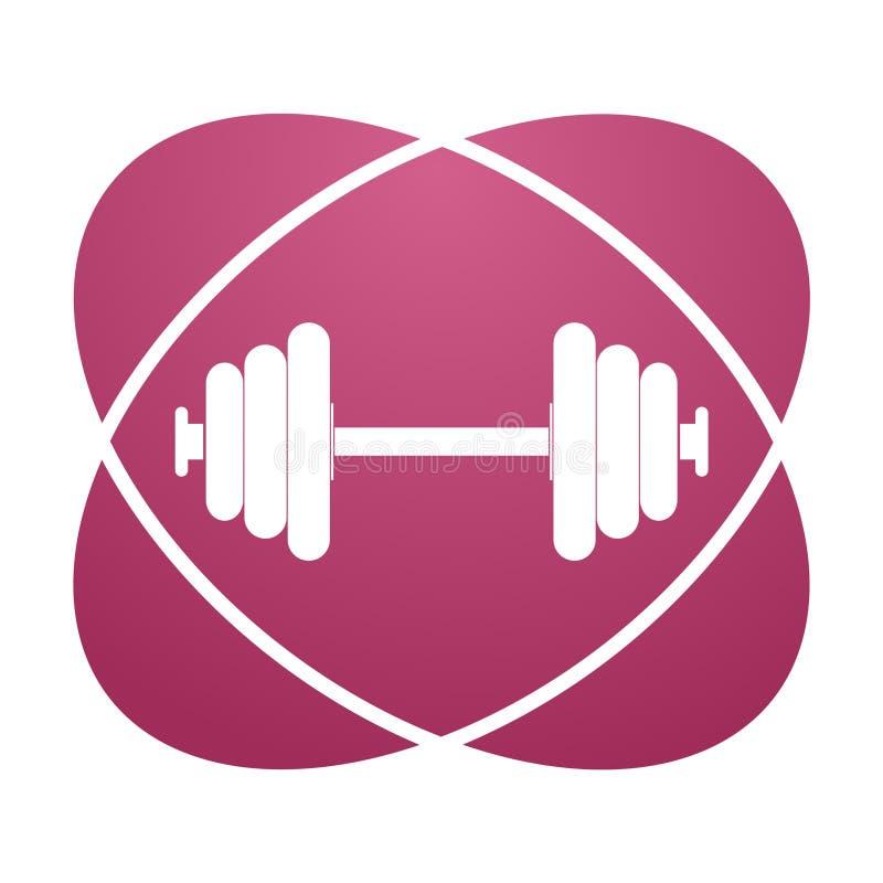 Pink sign barbell vector illustration