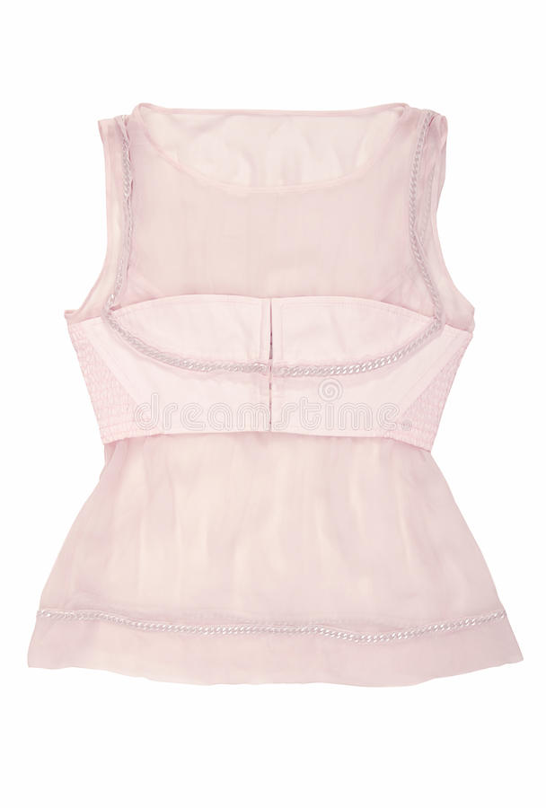 Pink silk blouse royalty free stock images