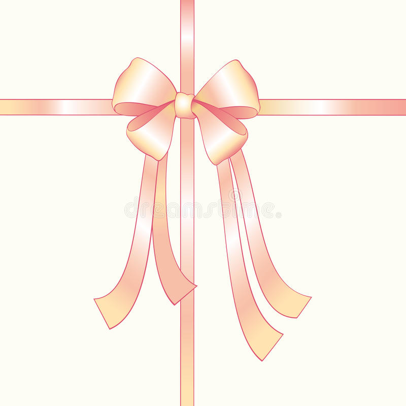 Download Pink silk bow stock vector. Image of ornate, satin, pink - 21229440