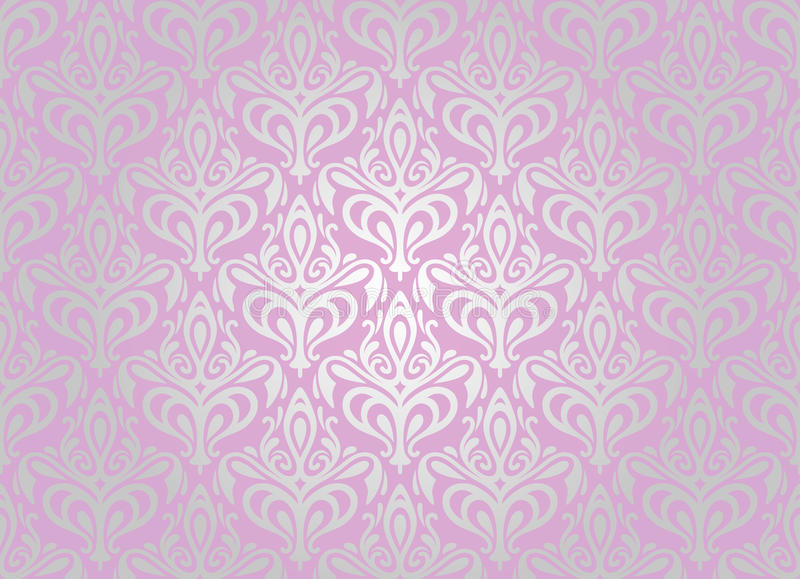 Download Pink & silver  wallpaper stock vector. Illustration of creative - 31595556