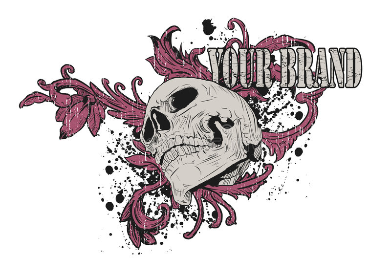 Pink Skull Graphic