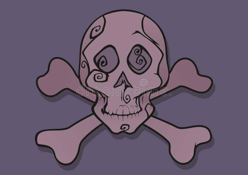 Pink Skull Vector Royalty Free Stock Photo