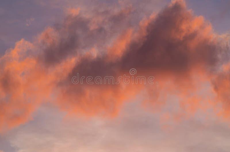 Pink sky at dusk stock photos