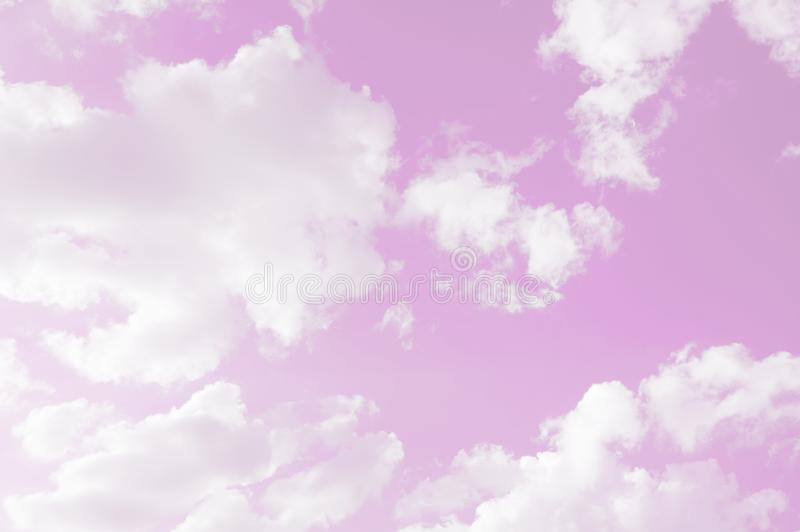 Pink sky in the good day use as background royalty free stock image