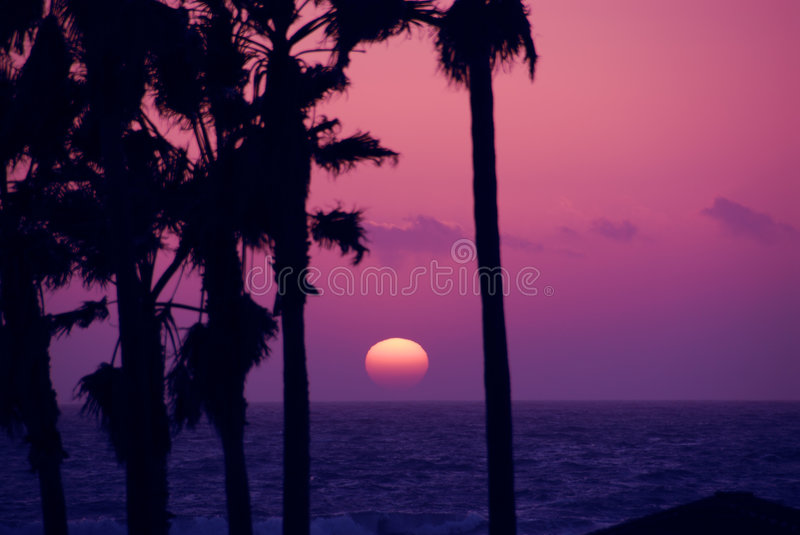 Pink Sky Sunset royalty free stock images