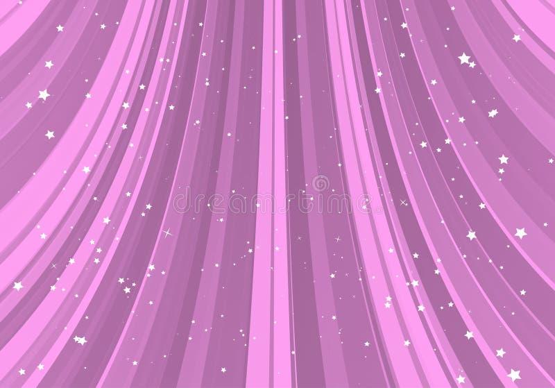 Pink slide with stars stock illustration
