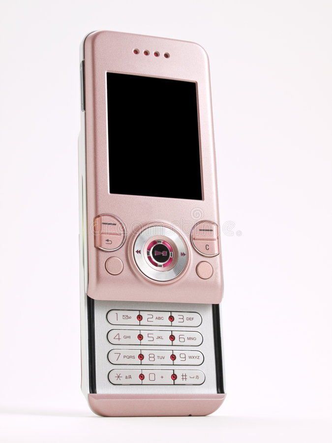 Download Pink Slider Cell Phone Front Stock Photo - Image: 6442426