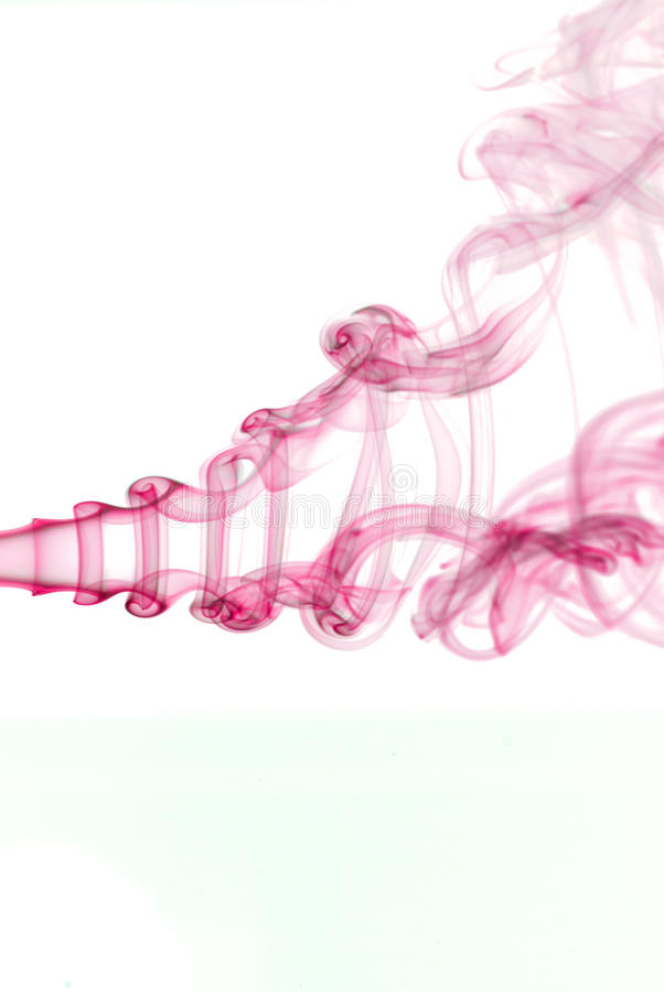 Pink smoke stock photo