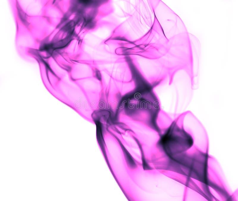 Pink smoke on white background royalty free stock image