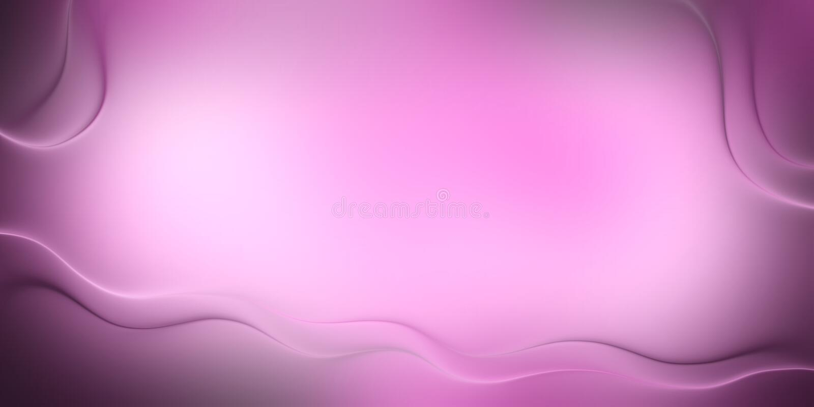 Pink smooth wave background for calligraphy royalty free stock photography