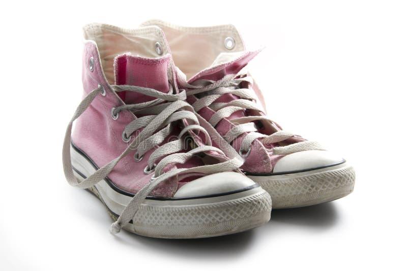Pink sneaker royalty free stock image