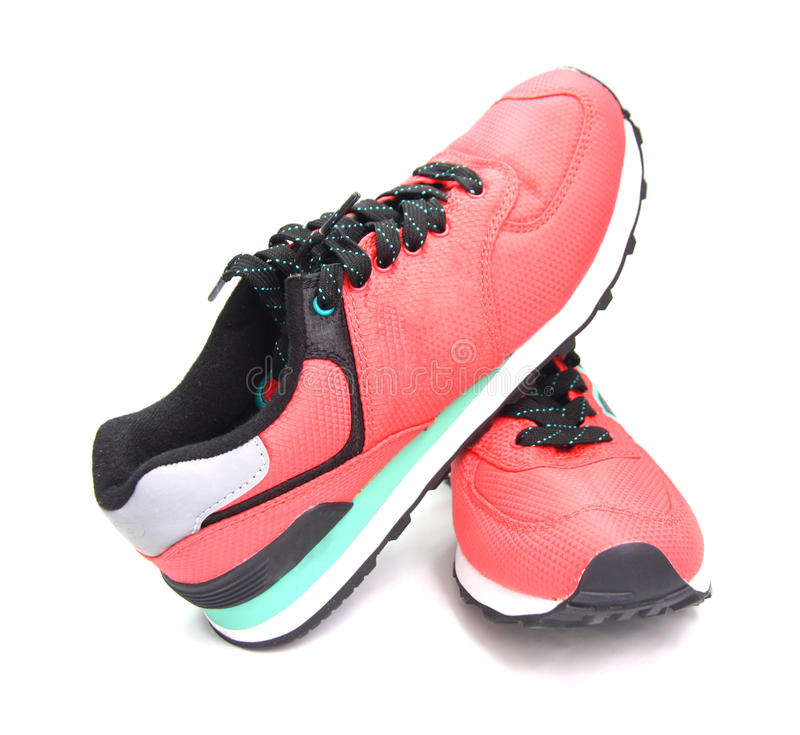 Download Pink sneaker, sports shoes stock image. Image of isolated - 35178613