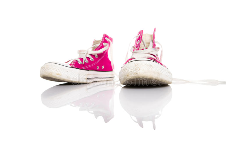 Download Pink sneakers stock image. Image of fashion, shoe, female - 10446713