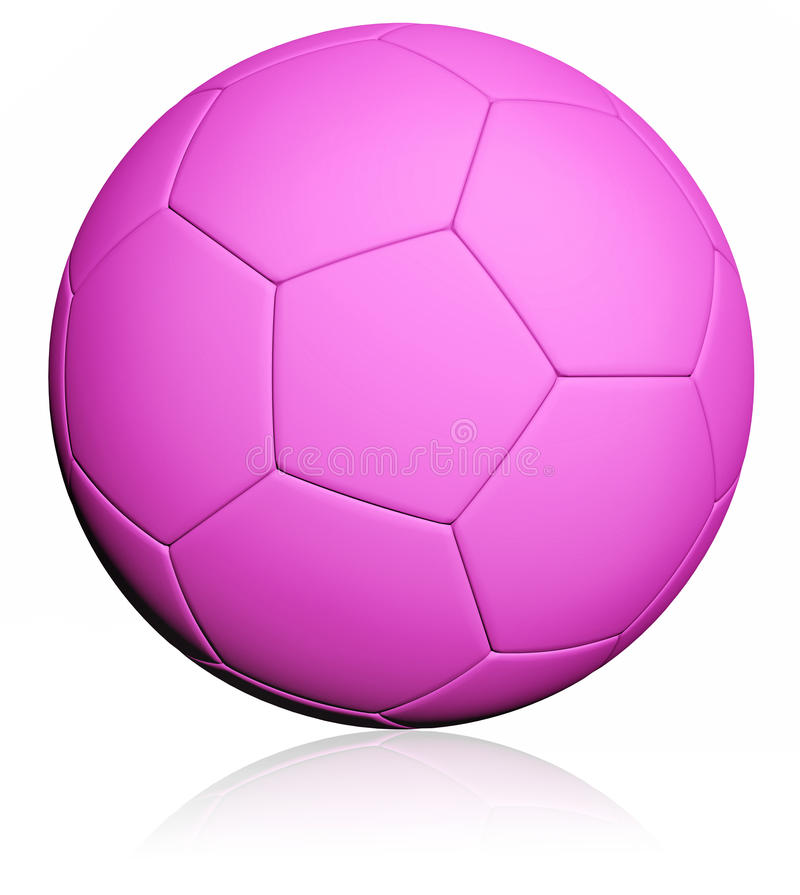 Pink Soccer ball royalty free illustration