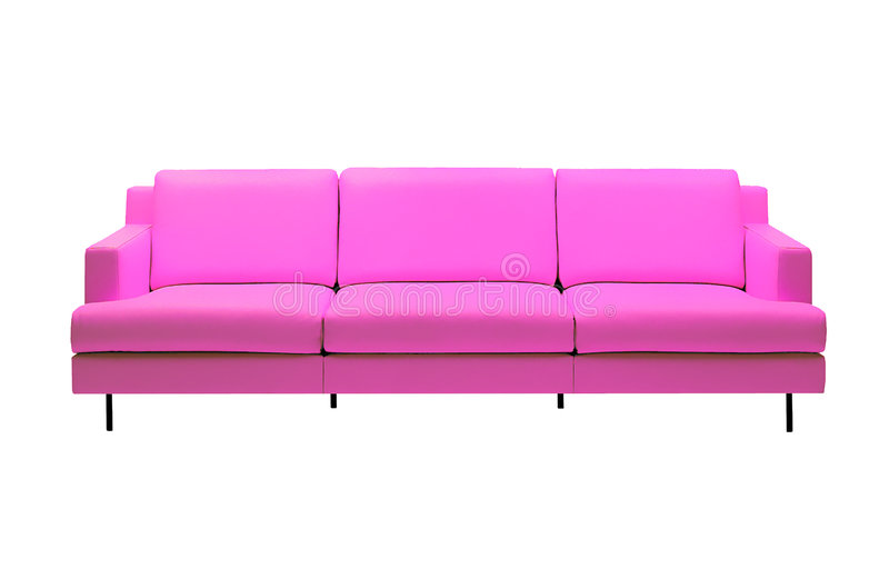 Pink Sofa 2 Stock Photos