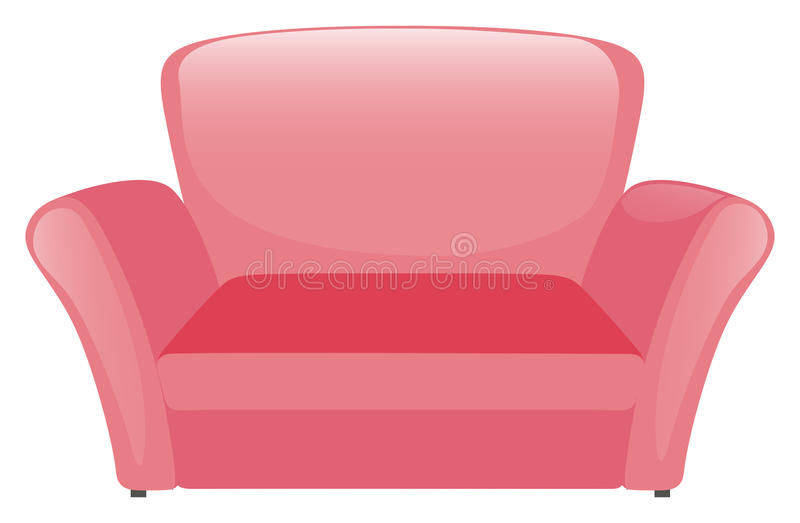 Pink sofa on white background. Illustration vector illustration