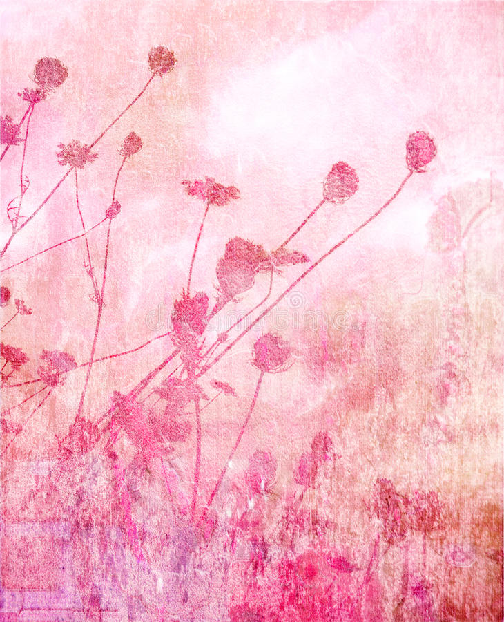 Pink soft summer meadow background stock illustration