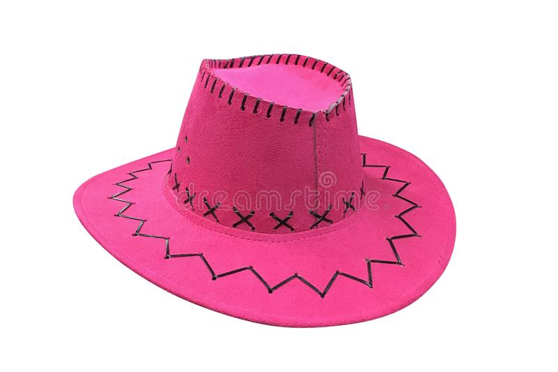 Pink sombrero isolated on white background royalty free stock image