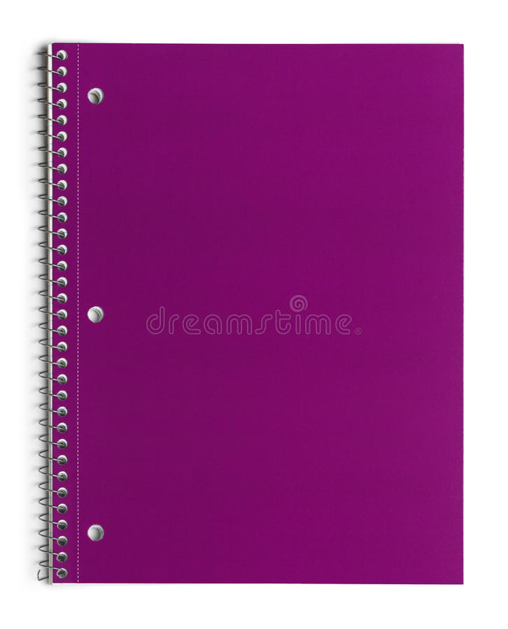 Download Pink Spiral Notebook stock photo. Image of education - 38680534