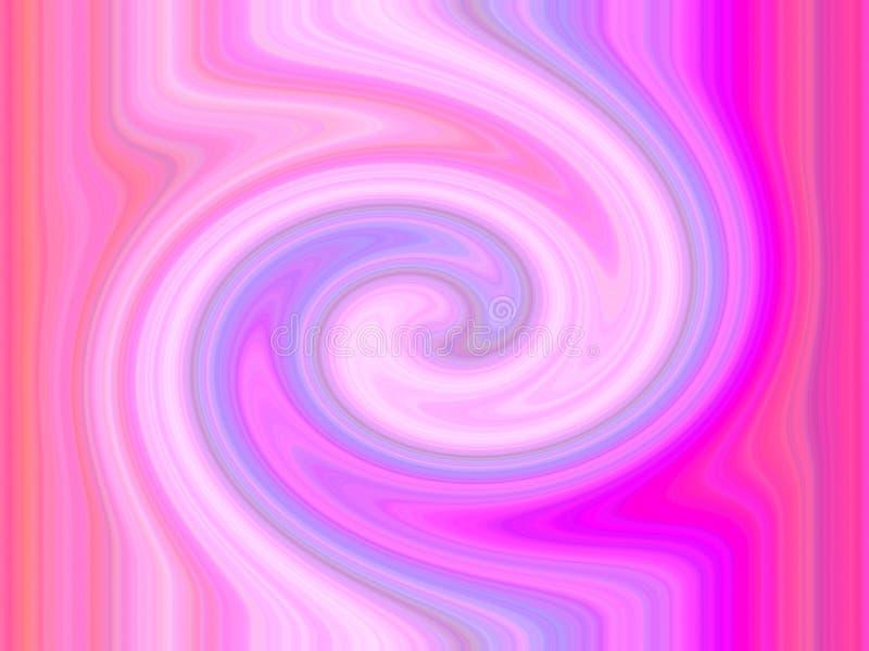 Pink spiral vortex stock illustration