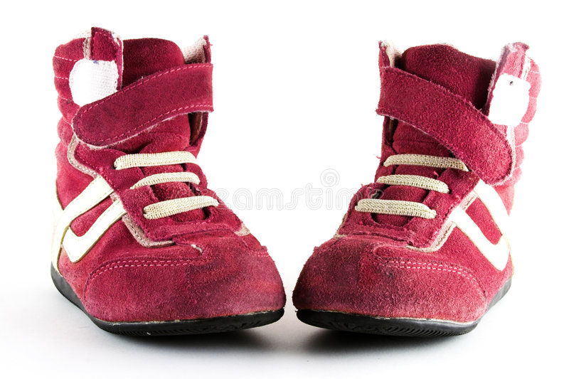 Pink sport trainers royalty free stock images