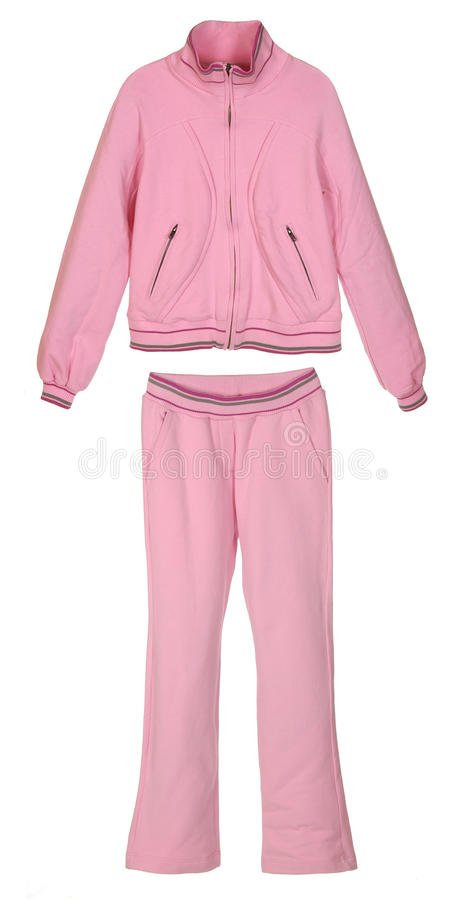 Pink sportive costume royalty free stock image