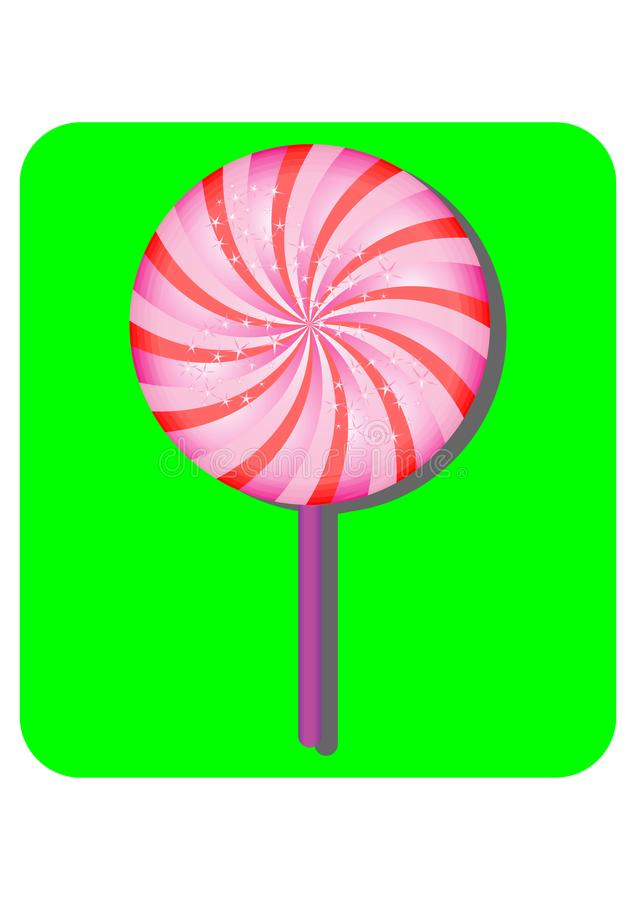 Pink and Sprakling Lolipop Candy stock illustration